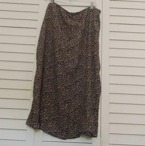 AE Midi Leopard Skirt